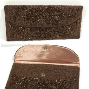 VINTAGE Copper Beaded Evening Clutch
